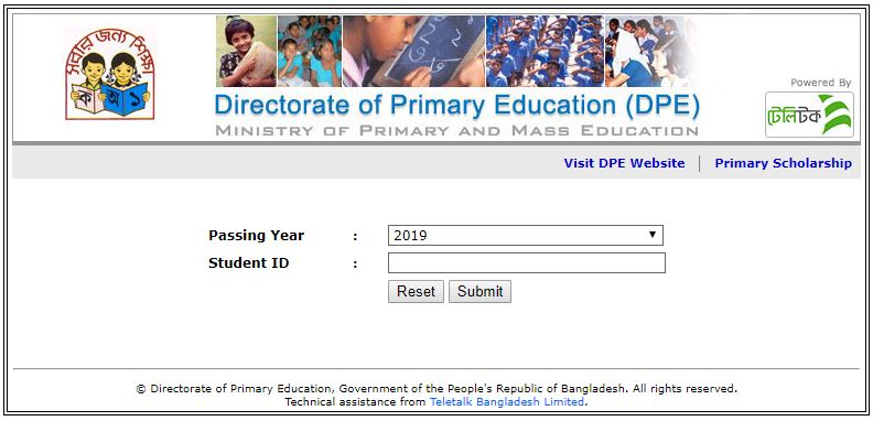 directorate of primary education