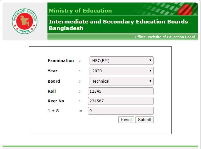 hsc bm result educationboardresults