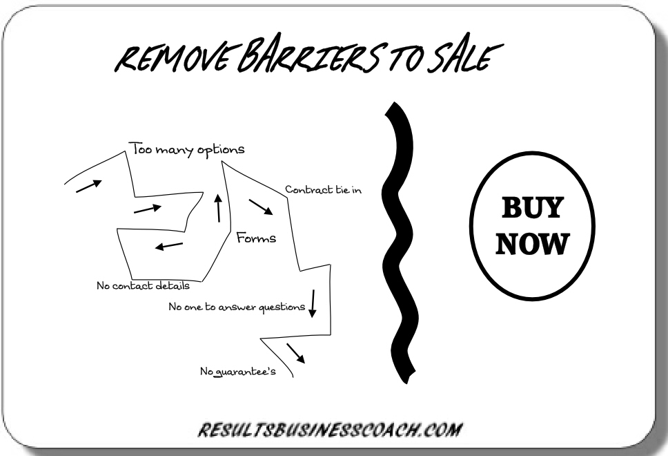 How to remove barriers to sale