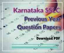 Karnataka SSLC Previous year Question Papers with Answers