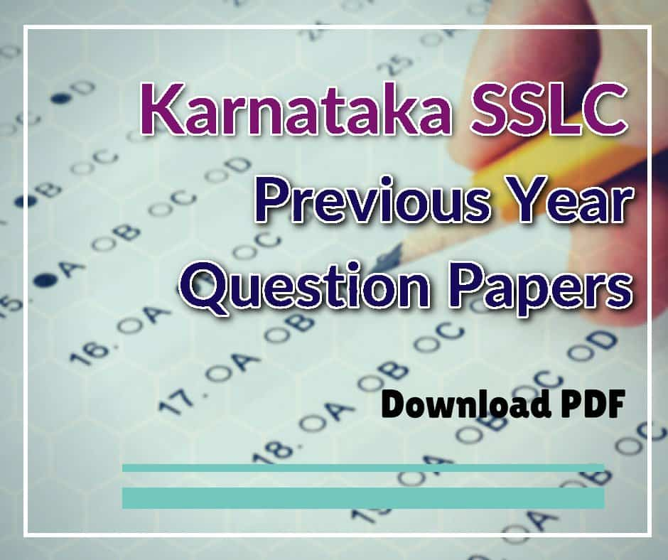 Karnataka SSLC Previous Year Question Papers