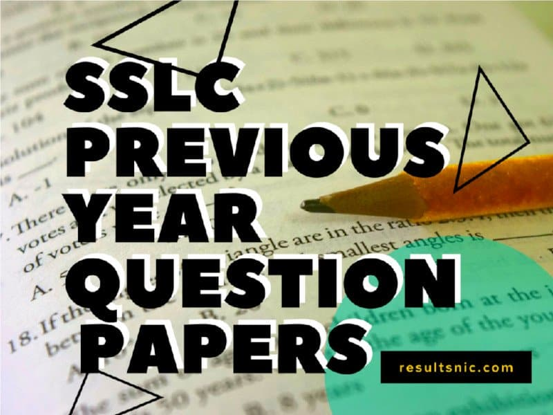 SSLC Previous Year Question Papers
