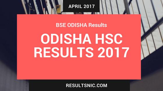 Odisha Board HSC Results 2017