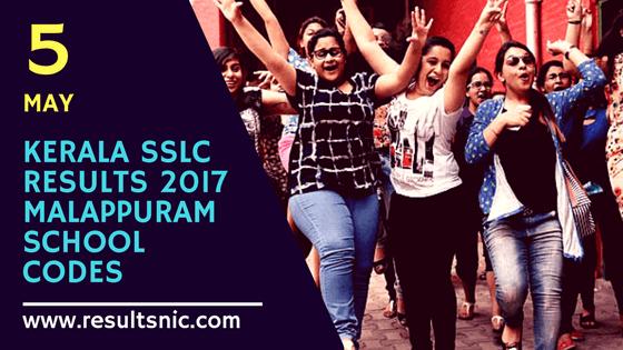 Kerala SSLC Results 2017 School Wise results Malappuram District