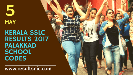 Kerala SSLC Results 2017 School Wise results Palakkad District