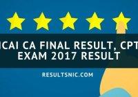 ICAI CA Final Result, CPT Exam 2017 Result