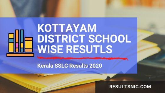 Kerala SSLC School Wise results Kottayam District 2020