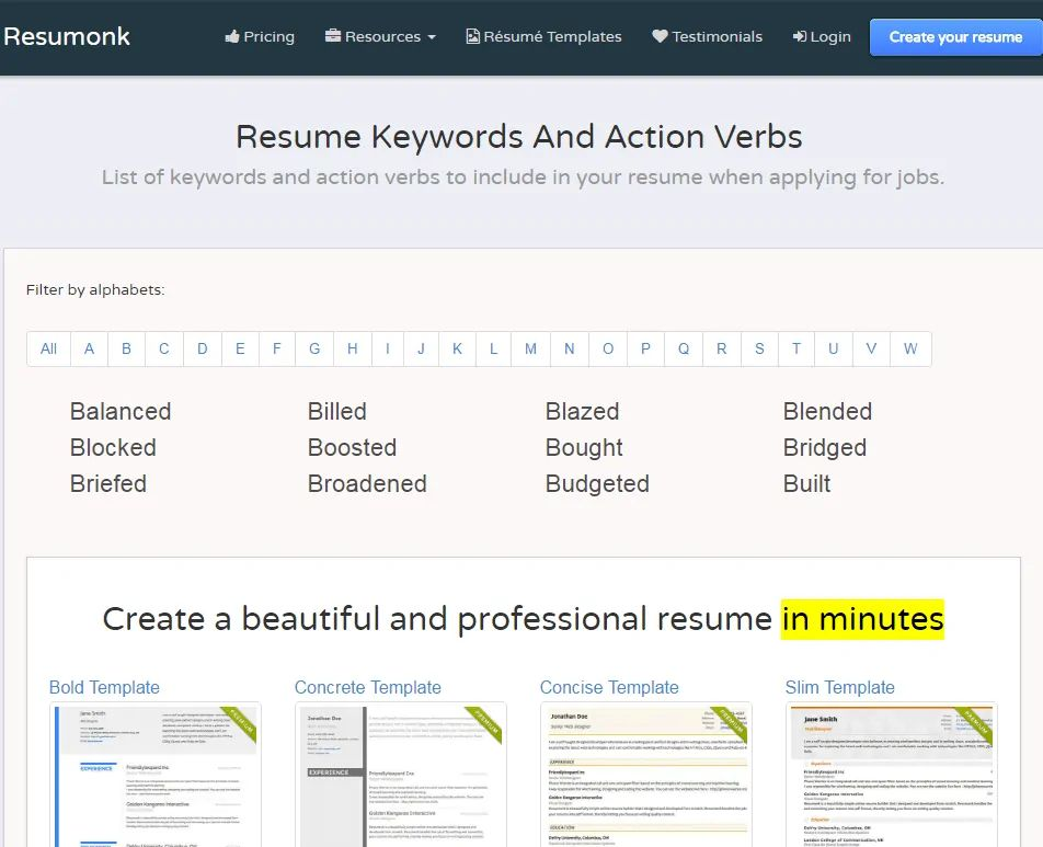 resume keyword search software