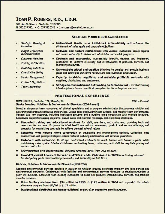 example of environmental resume