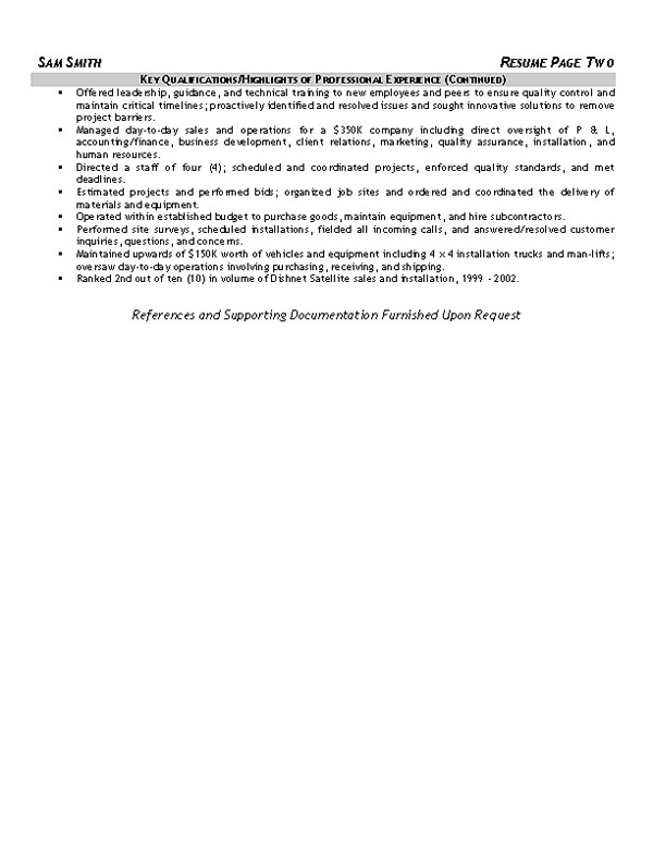 equipment operator resume samples