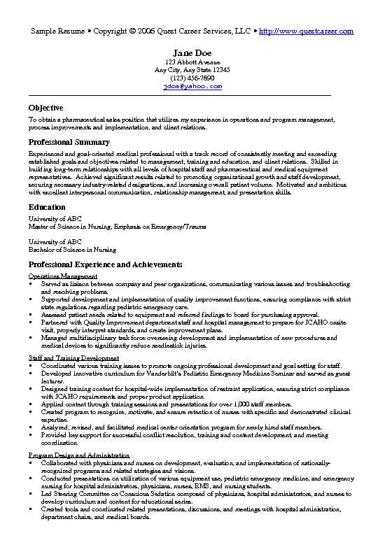 sales director resume objective examples