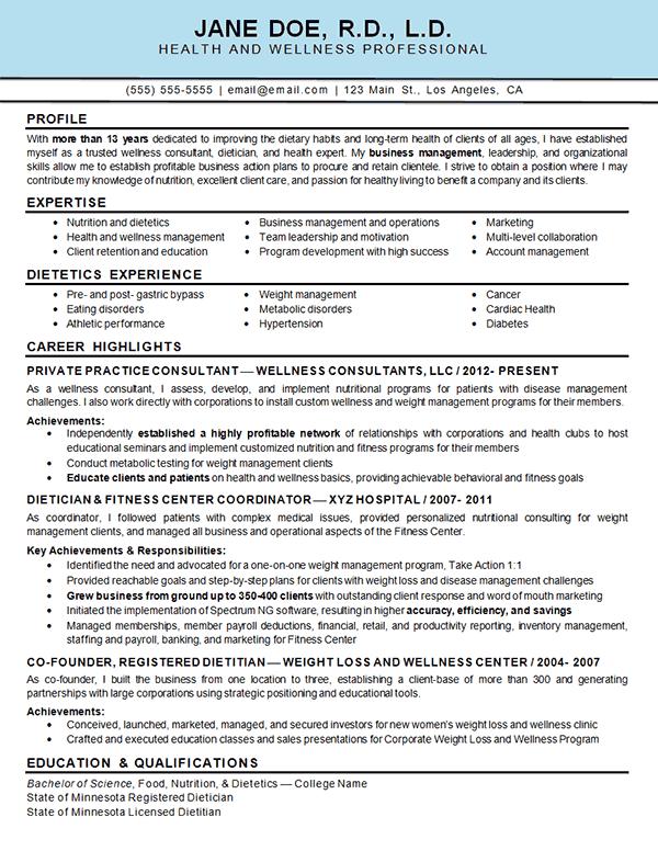 sample resume for medical management