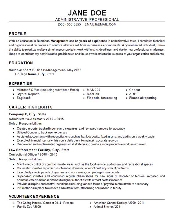 finance objective resume