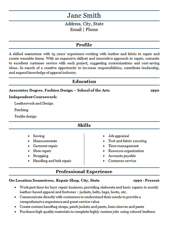 description for resume for customer service