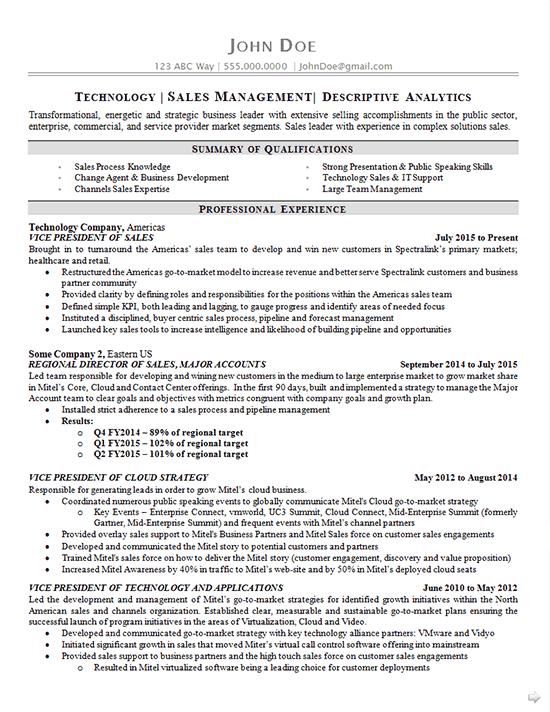 blog on resume example