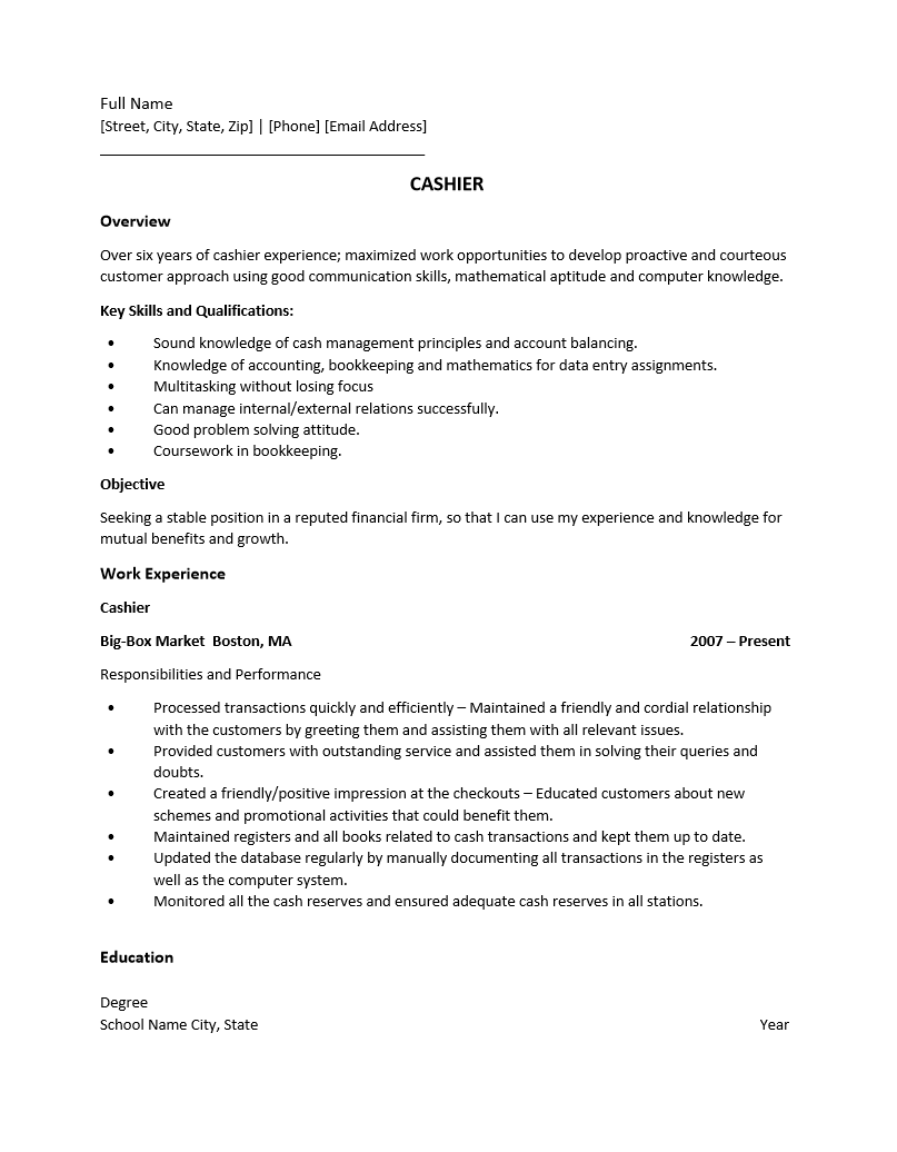 rich text resume template