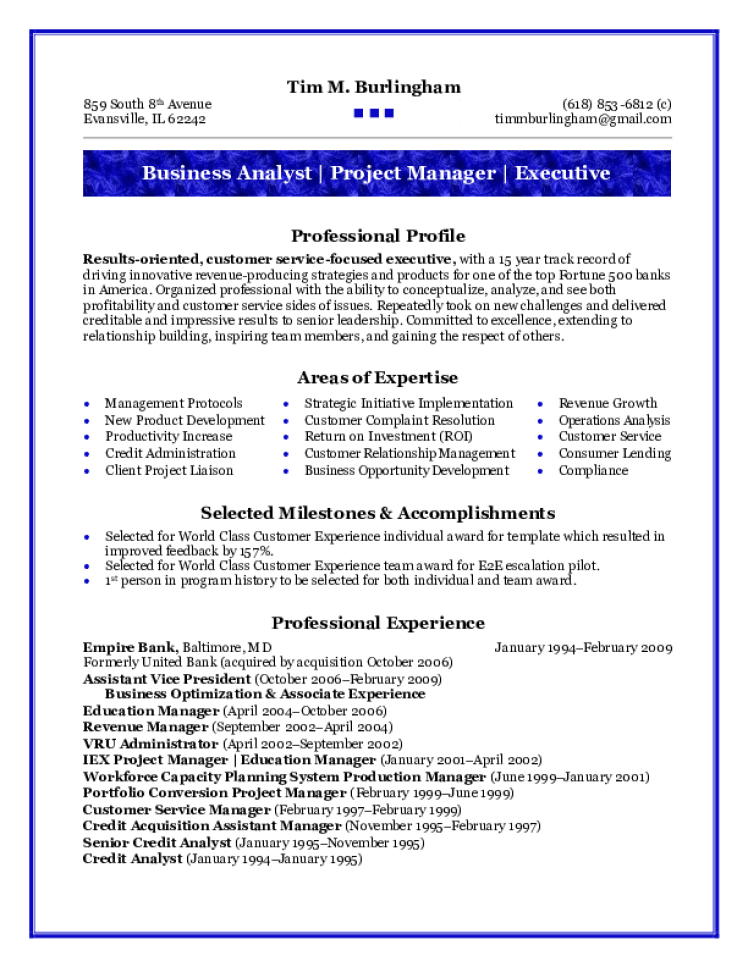 Business Analyst Resume Samples Download Free Templates In Pdf And Word