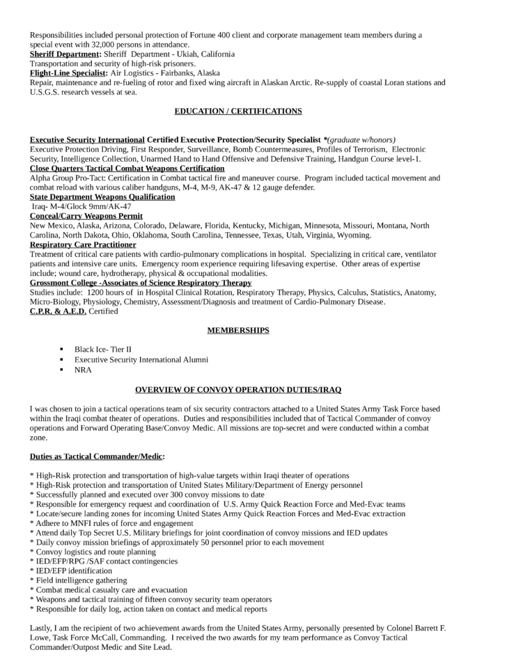 Event Security Description