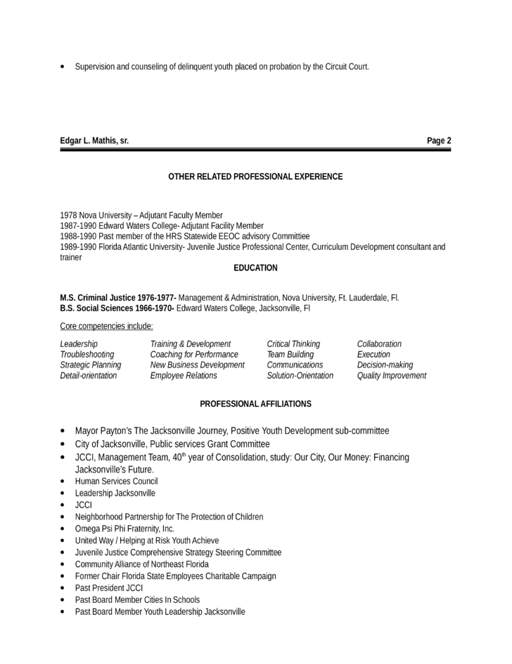 Best Youth Development Specialist Resume Template Page 2