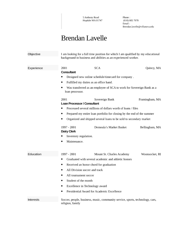 attendant resume example
