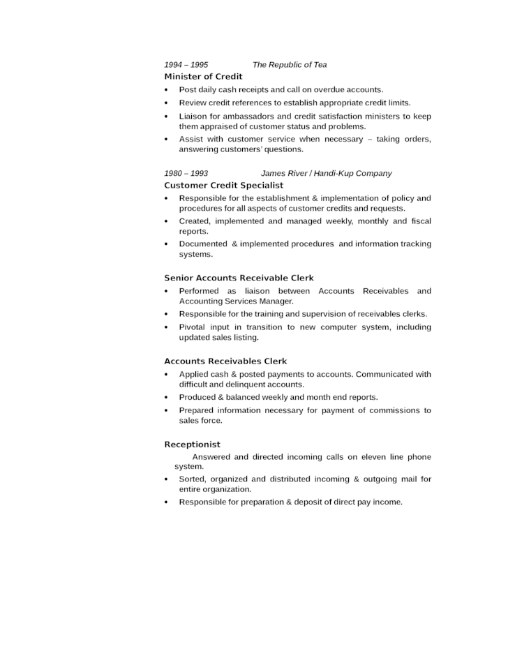 Accounts Receivable Resume Objective Nurse Practitioner Resume Accounts  Clerk Resume Accounts Payable Clerk Resume Best Resume  Accounts Payable And Receivable Resume