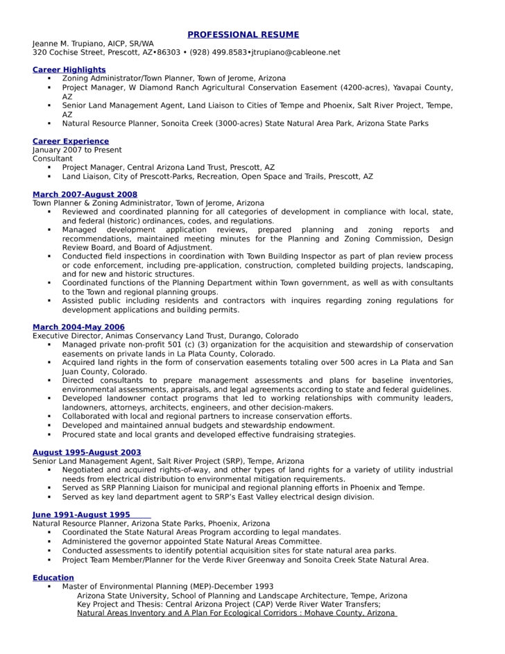 Executive Zoning Enforcement Inspector Resume Template