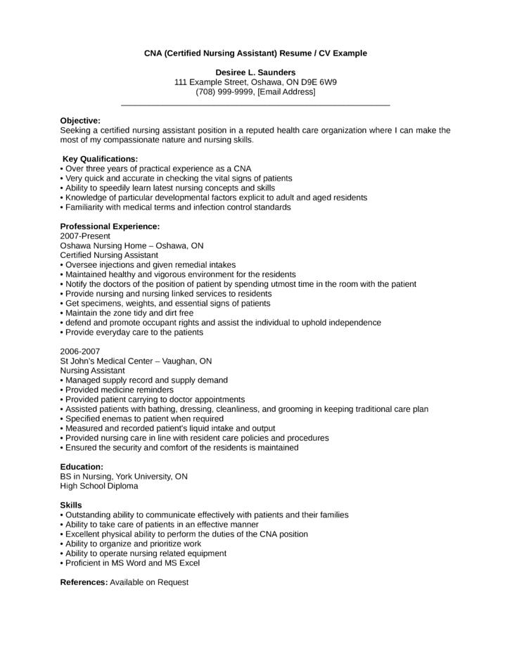 Professional CNA Resume Template