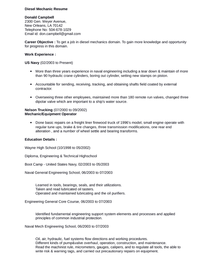 mechanic resume unforgettable automotive technician resume