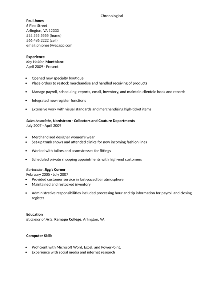 Key Holder Resume Sample Resume Ideas