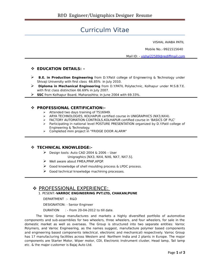 resume maker in pune