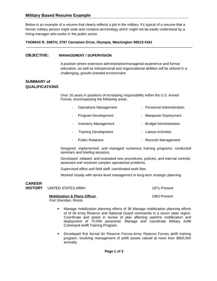 Professional USAR Unit Administrator Resume Template