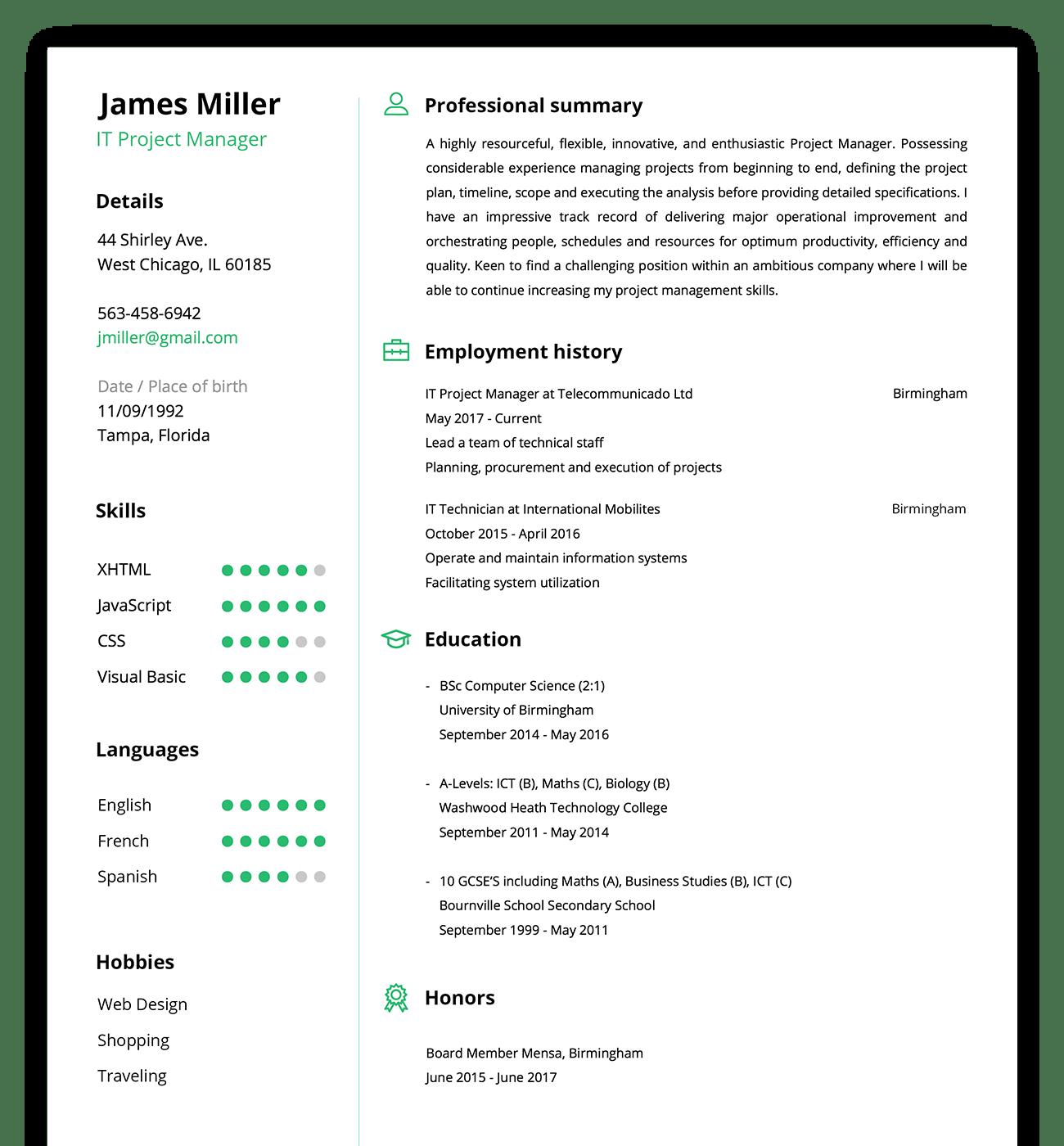 cv maker resume builder