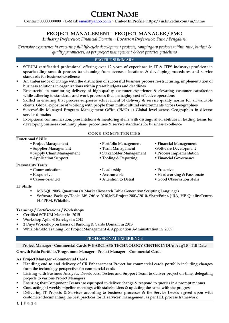 vp project manager resume resume example vp project manager resume cv sample senior executive resume sample it resume template