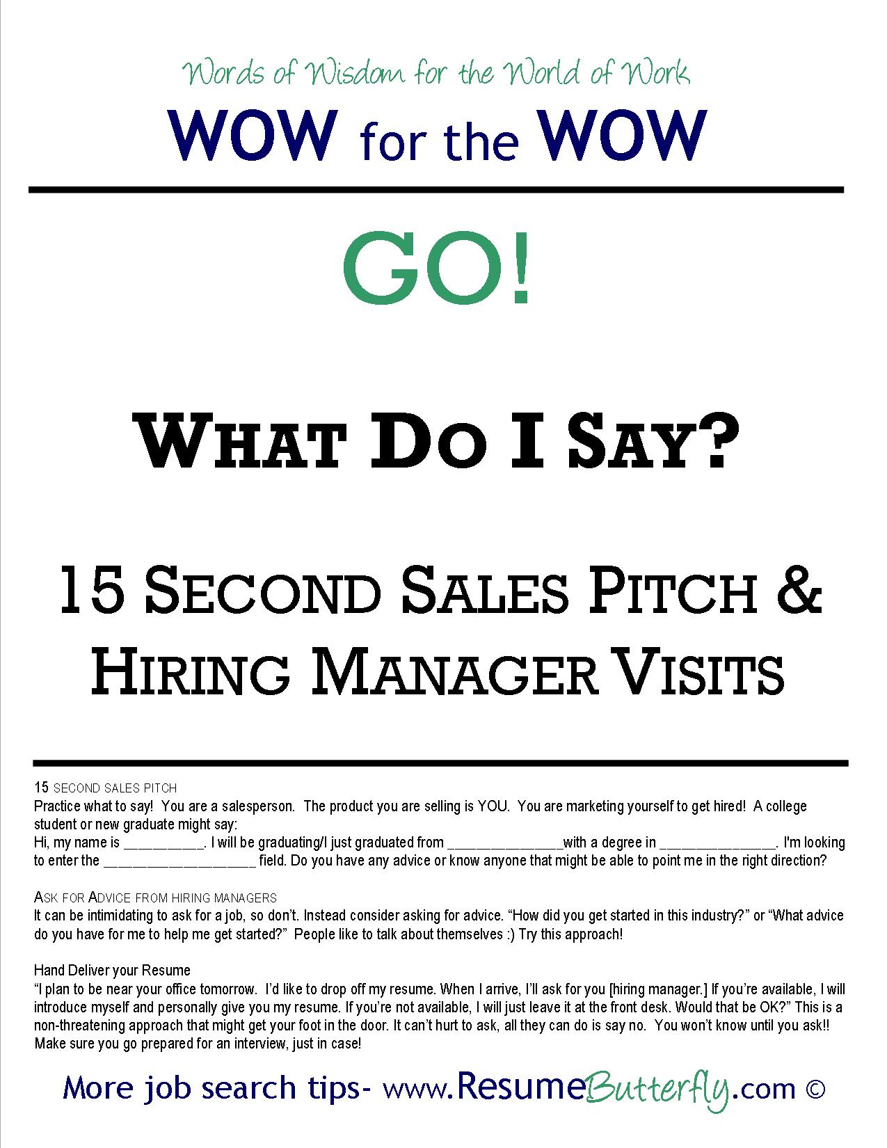 Resume Service Wow For The Wow Job Search Skills Resume Butterfly Go 15
