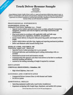 cdl driver resume sample writing tips companion