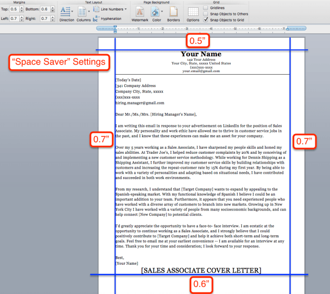 Cover Letter Format Exle1