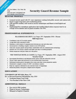 security guard cover letter sample writing tips resume companion - Security Guard Resume