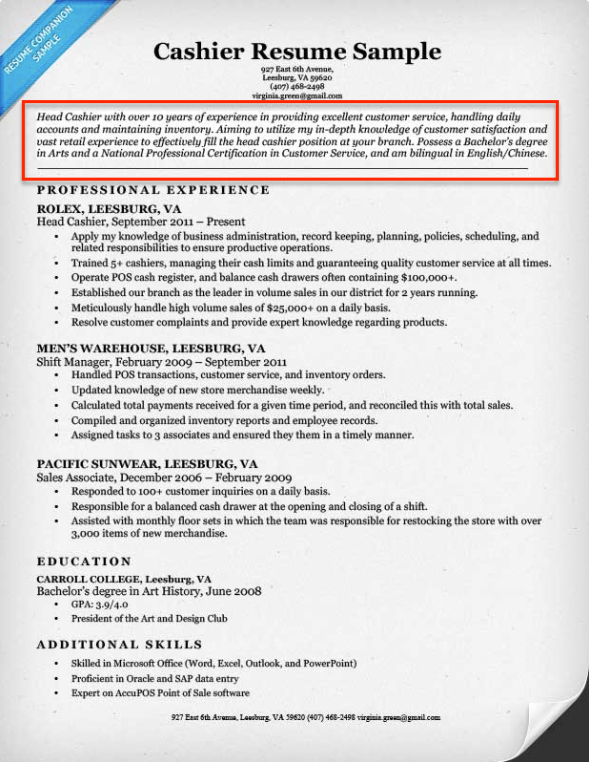 How To Write A Summary Of Qualifications Resume Companion  Summary Of Qualifications On A Resume