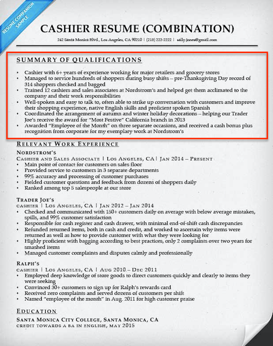 Resume CV Cover Letter 25 Qualifications Summary Resume Examples  Ability Summary Resume Examples