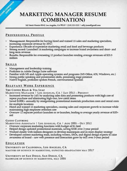 Corporate Resume Examples Business Resume Template Resume