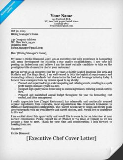 Chef Cover Letter Samples - Cover Letter Resume Ideas ...