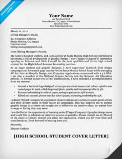 High School Student Resume Sample & Writing Tips Resume Companion