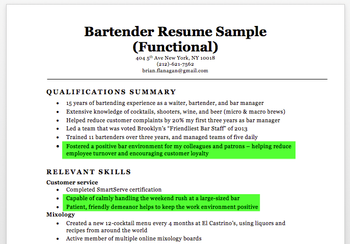 New Bartender Resume Unforgettable Bartender Resume Examples To