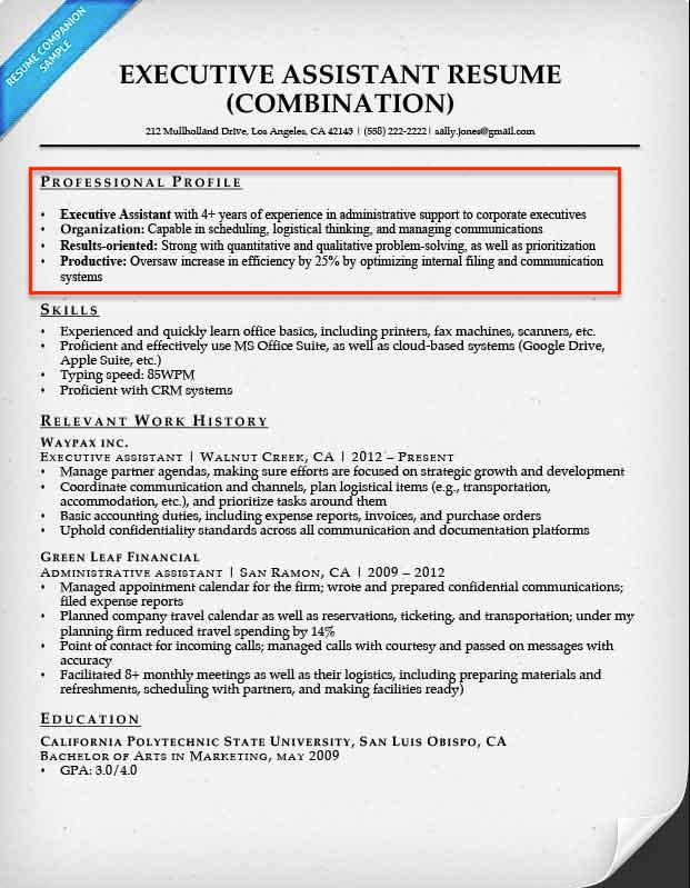 qualification profile resume examples
