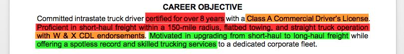 owner operator commercial resume sample