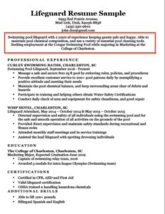 Sample Resume With Career Objective