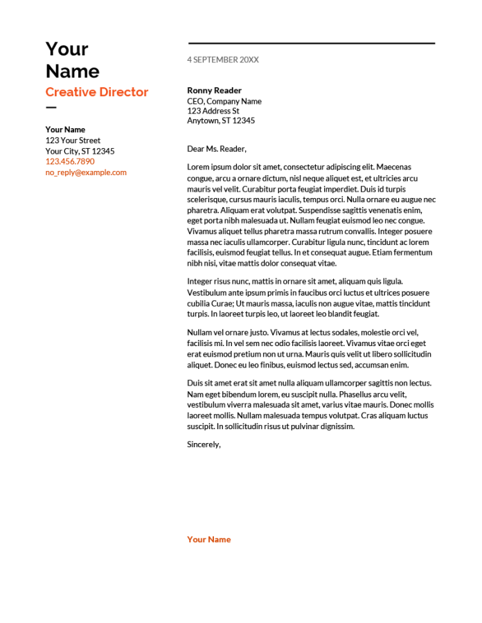 6 Cover Letter Templates For Google Docs Free Download