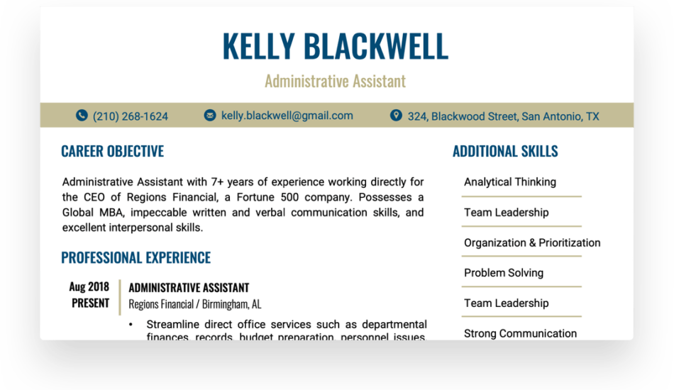 How to make your resume look professional even though you have no experience. Free Resume Builder Make A Professional Resume In Minutes