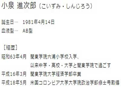 小泉進次郎 学歴
