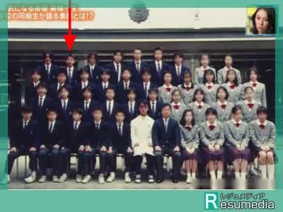 高橋一生 中学校 クラス写真